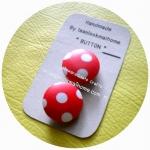 HMB2.5-4 : กระดุมปั๊ม handmade ขนาด 2.5 cm- ผ้ากันน้ำ Luminate Fabric  (1 แพคบรรจุ 2 เม็ด )