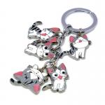พวงกุญแจเหล็กแมวจี้ รวม 5ตัว แบบใหม่