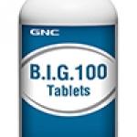 GNC B.I.G 100 จีเอ็นซี บีไอจี 100 (วิตามินบีรวม) 100 Tablets Code: 153967 เลขทะเบียน อย. 2C 42/46