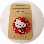 HMB3.8-13: กระดุมปั๊ม handmade ขนาด 3.8 cm- (1 แพคบรรจุ 1 เม็ด )- Hello Kitty
