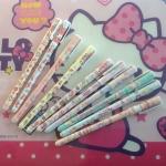พร้อมส่งค่ะ ปากกาเจลหมึกน้ำเงินลาย Sanrio Characters