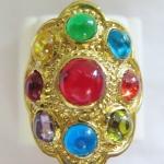 แหวนพลอยมณีใต้น้ำ(เพชรพญานาค)นพเก้าเนื้อทองเหลือง(ทุกราศี)เบอร์9ค่ะ