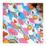JULY58.USA4 : Kitty ผ้าสั่งจาก USA 100% cotton แบ่งขายขั้นต่ำ ขนาด1/8 หลา : 25-27.5 X 45cm =1 จำนวน