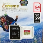 MicroSD Sandisk Extreme 64GB 100MB/s ประกัน Synnex Lifetime