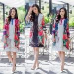 ชุดเดรส ผ้าซาตินญี่ปุ่น
