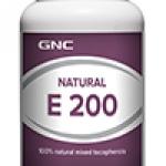 GNC Natural E 200IU จีเอ็นซี เนเชอรัล อี 200 100 Softgel Capsules Code: 079567 เลขทะเบียน อย. 1C 33/45