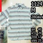เสื้อเชิ้ตผู้ชาย เสื้อเชิ้ตลายสก็อต Size M (No.1124)