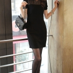 Korean Slim hollow dress