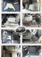 ผ้ายางปูพื้นรถยนต์ ISUZU ADVANTURE ลายกระดุม สีเทา เต็มคัน เข้ารูป100 %