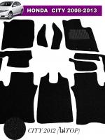 พรมดักฝุ่นไวนิล CITY 2008-2013 รุ่น VINYL MAT เย็บขอบ สีดำ (10ชิ้น) เต็มคัน สวยงาม เข้ารูป เหยียบนุ่มสบายเท้า ดักฝุ่นได้ดีที่สุด