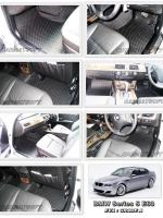 ผ้ายางปูพื้นรถยนต์ BMW SERIES 5 E60 ลายกระดุม สีดำ เข้ารูป 100%