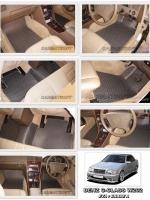ผ้ายางปูพื้นรถยนต์ BENZ C-CLASS W202 ลายกระดุม สีเทา เข้ารูป 100%
