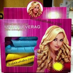 โรลม้วนผม ลอนโปเต้ ลอนเจ้าหญิง Magic leverag Hair roller 1กล่องบรรจุ18ชิ้น (ราคาส่ง 3กล่อง เหลือกล่องละ 150บาท)