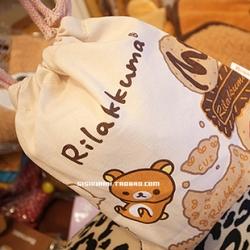 ถุงผ้าหูรูด ลายริลัคคุมะ Rilakkuma Cookie ขนาด 8x7นิ้ว