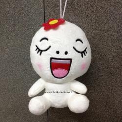 [ลดราคา]ตุ๊กตาไลน์ Line Character: Moon มูน ขนาด 20cm ติดดอกไม้ #6