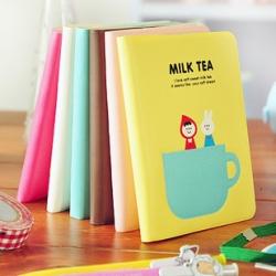 สมุดบันทึก Milk Tea น่ารัก สไตล์เกาหลี ขนาด 8.5x11.5cm (ซื้อ 6 ชิ้น เหลือชิ้นละ 30 บาท)