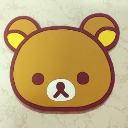 ที่รองแก้ว ลายหน้า Rilakkuma ริลัคคุมะ หมีขี้เกียจ