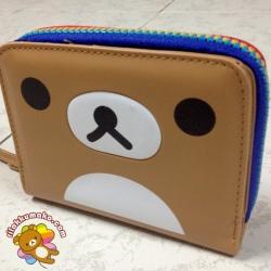 กระเป๋าสตางค์ ริลัคคุมะ Rilakkumako แบบสั้น ซิปเป็นสีๆ
