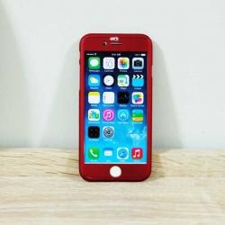 เคสไอโฟน 5/5S/SE ประกบ สีแดง