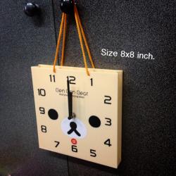 นาฬิกา รูปทรงถูงช็อปปิ้ง สามารถตั้งโต๊ะ หรือ แขวนได้ค่ะ Korilakkuma หมีสีครีม