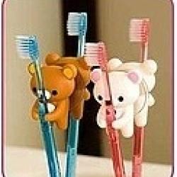 ที่แขวนแปรงสีฟัน พร้อมจุ๊บติดกระจก Rilakkuma ริลัคคุมะ มีสีน้ำตาล (ราคาส่ง 3ชิ้น เหลือชิ้นละ 80บาท)