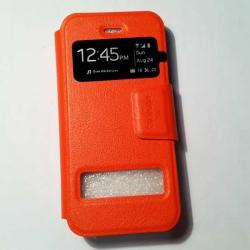 เคสซัมซุงโน๊ต 4 แบบฝาพับ สีส้ม