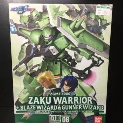Gundam Seed Destiny Zaku Warrior +Blaze Wizard&Gunner Wizard 1/100 ZGMF-1000