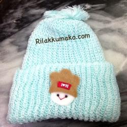 หมวกไหมพรมทารก Attoon สีฟ้า