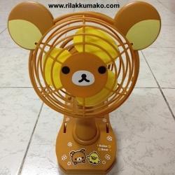 พัดลมตั้งโต๊ะ ริลัคคุมะ ใช้ถ่าน หรือ สาย USB