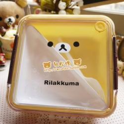 กล่องใส่อาหาร หมี Rilakkuma ขนาดใหญ่ มีที่เปิดระบายอากาศ ใส่Microwaveได้