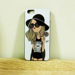 case iphone 5/5s/SE เคสยางลาย