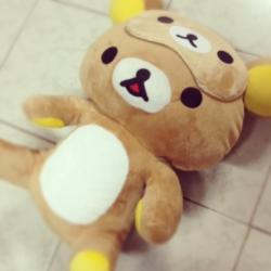 ตุ๊กตา ริลัคคุมะ Rilakkuma ขนาด 16นิ้ว พร้อมผ้าปิดตา