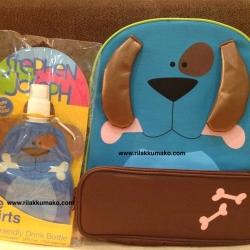 [ลายเจ้าตูบ หมาน้อยสีฟ้า] กระเป๋าเป้เด็ก พร้อม ขวดน้ำ นำเข้าจากอเมริกา Stephen Joseph