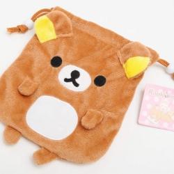 ถุงผ้าหูรูด ลายRilakkuma ริลัคคุมะ น่ารักมาก 5x4นิ้ว