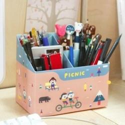 Paper Pencil Box ( Clean-up Box ) กล่องจัดระเบียบ เก็บปากกาดินสอ เครื่องเขียน (สั่งซื้อ6ชิ้น เหลือชิ้นละ 60 บาท)