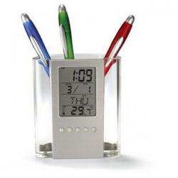 แท่นวางเครื่องเขียน พร้อมนาฬิกา แสดง เวลา วัน และ อุณหภูมิ #2 (ซื้อ 3 ชิ้น เหลือชิ้นละ175 บาท)
