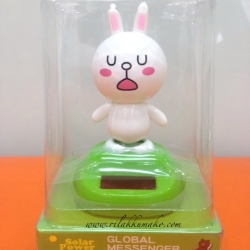 ตุ๊กตาไลน์ กระต่าย โคนี่ พลังงานแสงอาทิตย์ ขยับ ดุ๊กดิ๊ก Solar Dancing Toy