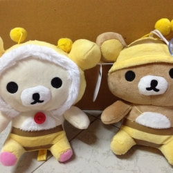 ตุ๊กตา เซ็ต2ตัว ชุดผึ้ง Rilakkuma + Korilakkuma ขนาด 7นิ้ว
