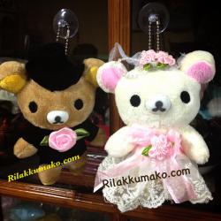 พวงกุญแจ ตุ๊กตาเซ็ตแต่งงาน ริลัคคุมะ และ โคะริลัคคุมะ ขนาด 5.5นิ้ว (225บาท ได้2ตัวค่ะ)
