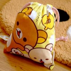 ถุงผ้าหูรูด ริลัคคุมะ Rilakkuma ขนาด 8x7นิ้ว