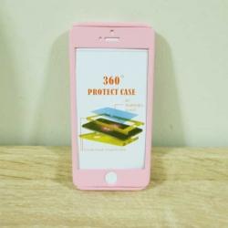 เคสไอโฟน 5/5S/SE ประกบ สีชมพู