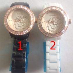 นาฬิกาข้อมือ Chanel J12 Flower Limited Edition 2013 คริสตัล ขาว - ดำ