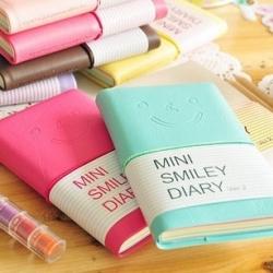 สมุดไดอารี่ Mini Smiley Diary พกพาแบบหนา สไตล์เกาหลี (ซื้อ 6 เล่ม เหลือเล่มละ 40 บาท)