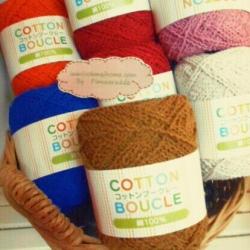 YBC1: ไหมพรมขนแกะ 100% cotton ขนาด25g 70m มีให้เลือก10สีไม่มีราคาส่งค่ะ