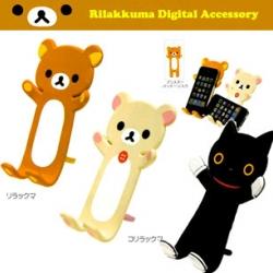 แท่นวางโทรศัพท์มือถือ iPhone ดัดงอได้ มีลาย Rilakkuma และ Korilakkuma
