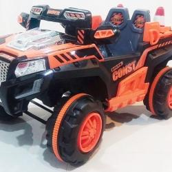 รถแบตเตอรี่เด็ก Jeep Engineer สีส้มคันใหญ่สุดๆ 2 มอเตอร์