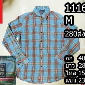 เสื้อเชิ้ตแขนยาว เสื้อเชิ้ตuniqlo Size M (No.1116)