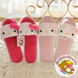 รองเท้าลาย คิตตี้ Hello Kitty ใส่เดินในบ้านหรือนอกบ้านก็ได้จ้า มี2สี: ชมพูเข้ม และ ชมพูอ่อน