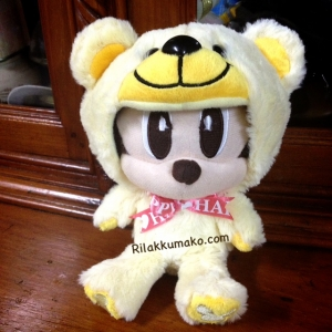 ตุ๊กตา มินนี่เมาส์ แปลงร่างชุดหมี น่ารักมากๆค่ะ ถอดหมวกได้ ขนาด 6นิ้ว