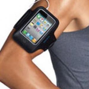 สายรัดแขน iPhone4/4s สำหรับผู้ที่ชื่นชอบการออกกำลังกาย ขนาด11x13cm